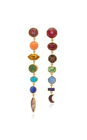 Rainbow Drop Earrings by Grainne Morton | Moda Operandi