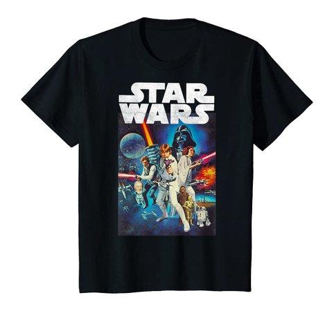 Amazon.com: Star Wars Vintage Cast Poster T-Shirt: Clothing