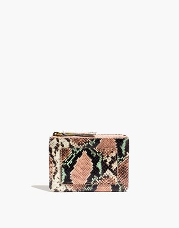 The Leather Pouch Clutch: Snake Embossed Edition