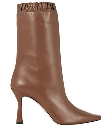 Wandler Lina Slouch Leather Ankle Boots | INTERMIX®