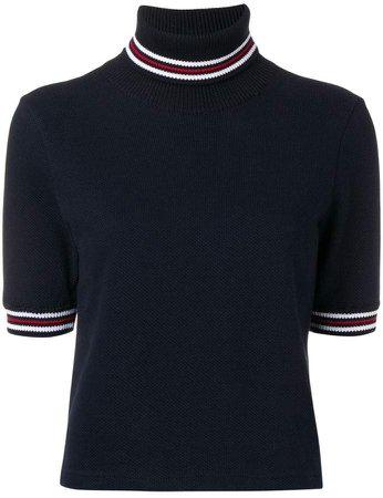 Cricket Stripe Navy Turtleneck