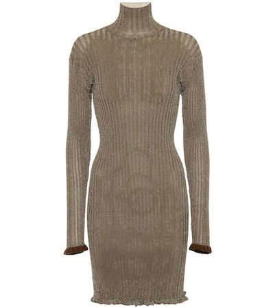 Ruffled turtleneck dress