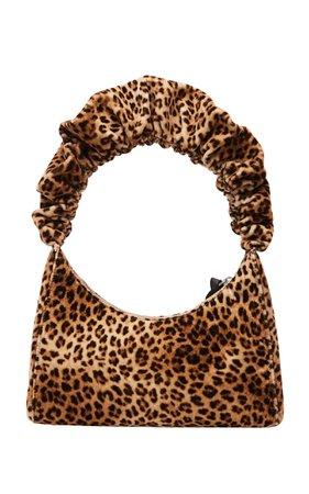 Loeffler Randall Aurora Leopard-Print Scrunchie Strap Shoulder Bag
