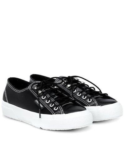X Superga leather sneakers