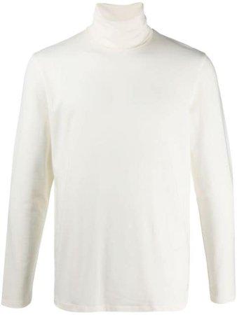White Jil Sander turtleneck cotton T-shirt - Farfetch