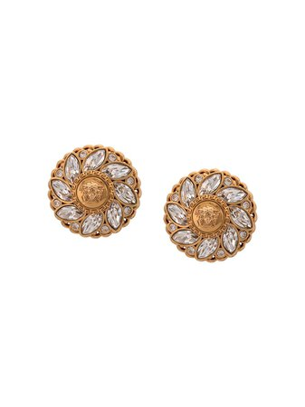 Shop Versace Medusa gemstone earrings with Express Delivery - FARFETCH