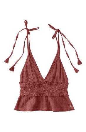 Roxy Simple Blossom Tie Shoulder Camisole | Nordstrom