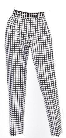 Checker black and white pants