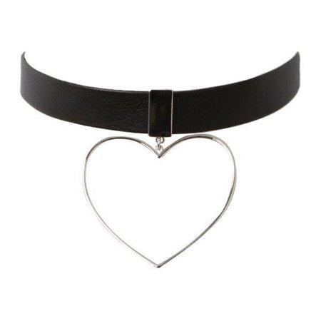 Large Heart Pendant Choker