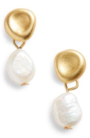 Madewell Glimmer Pearl Earrings | Nordstrom