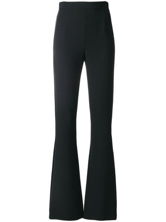 Black Pierre Balmain Flared Trousers | Farfetch.com
