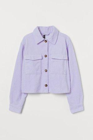 Crop Shirt Jacket - Light purple - Ladies   H&M US