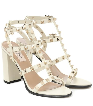 Valentino - Valentino Garavani Rockstud leather sandals | Mytheresa