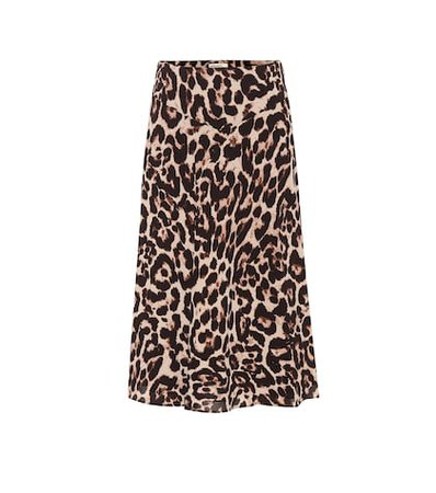 Senga leopard midi skirt