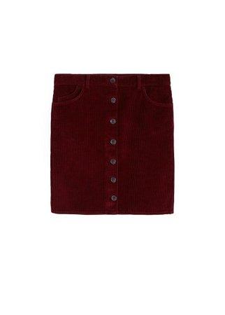 Violeta BY MANGO Buttoned corduroy skirt