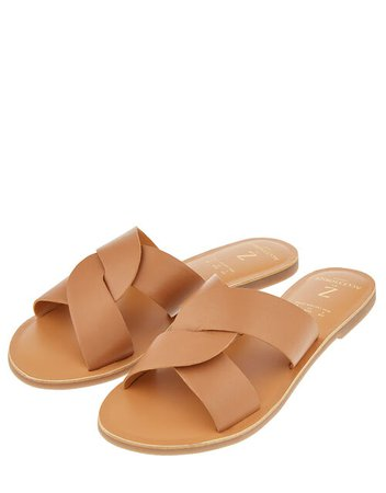 Seville Twist Sliders Tan | Sandals & Flip Flops | Accessorize UK