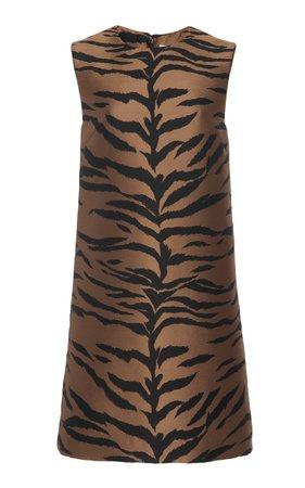 Tiger Jacquard Mini Shift Dress by Carolina Herrera   Moda Operandi