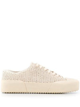 Jil Sander Crochet Raised-Sole Sneakers JS34062A11080 Neutral | Farfetch