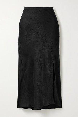 Anine Bing | Dolly satin-jacquard midi skirt | NET-A-PORTER.COM