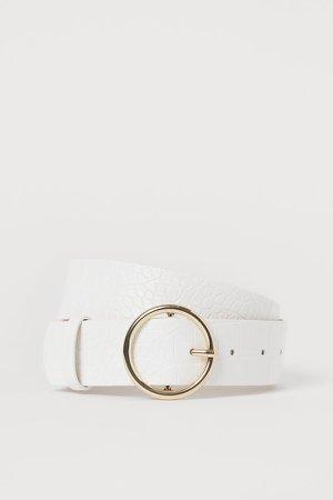 Waist Belt - White