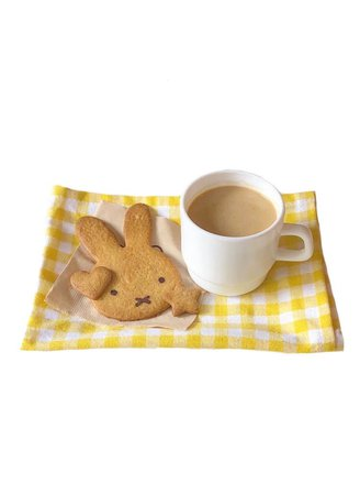 soft yellow gingham cookies tea cup png filler cute kawaii