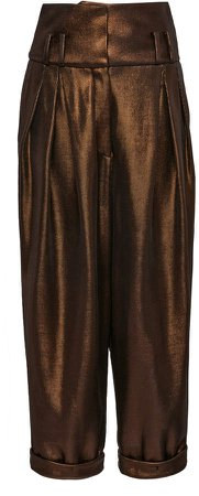 Balmain Straight-Leg Lurex Pants