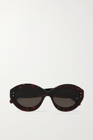 Tortoiseshell Round-frame tortoiseshell acetate sunglasses | Alaïa | NET-A-PORTER