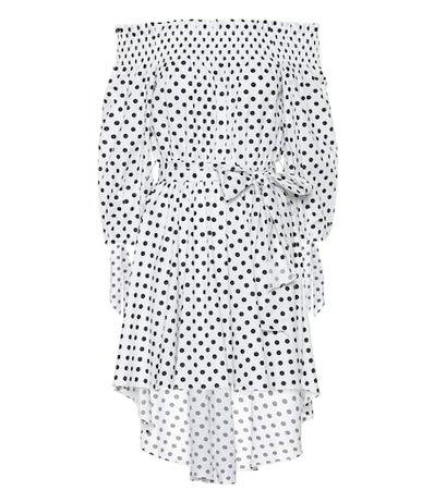 Lou stretch cotton minidress