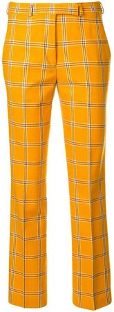 plaid tailored fitted trousers