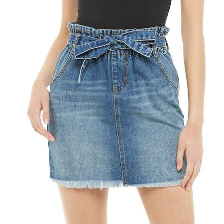 Juniors' SO® Paperbag Denim Skirt