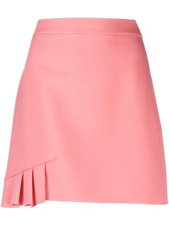 MSGM pleat-detail A-line skirt pink