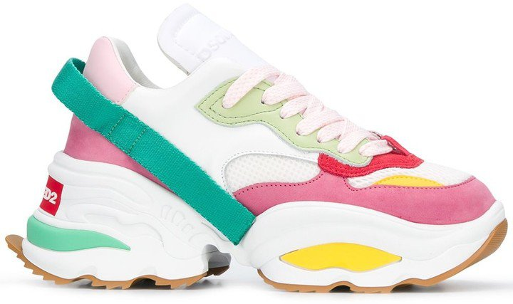 Colour-Block Chunky Low-Top Trainers