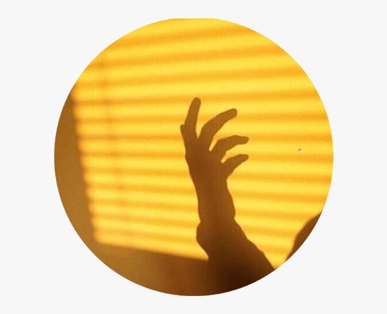 Yellow Aesthetic Tumblr circle icon