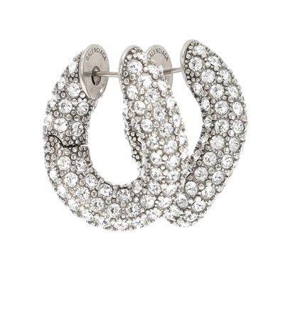 Loop Embellished Hoop Earrings - Balenciaga | Mytheresa