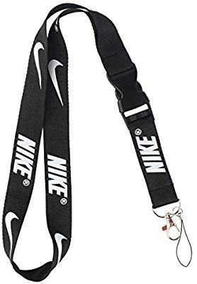 Amazon.com : Lanyard Keychain Holder Keychain Key Chain Black Lanyard Clip with Webbing Strap (Nike) : Office Products