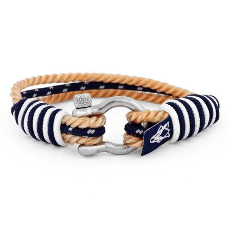 Princeps Nautical Bracelet Silver-Blue-Beige - Blackskies Online Shop | Blackskies