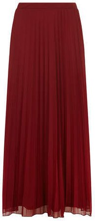 Dorothy Perkins Dark Red Mesh Pleat Maxi Skirt | Where to buy & how to wear