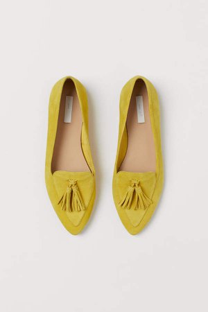 Suede Loafers - Yellow