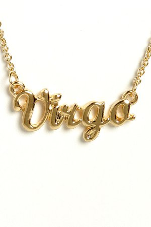 virgo necklace gold - Google Search