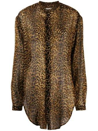 Saint Laurent leopard-print Wool Shirt - Farfetch