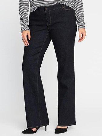 Mid-Rise Secret-Slim Pockets Plus-Size Boot-Cut Jeans   Old Navy