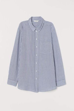 Cotton Shirt - Blue