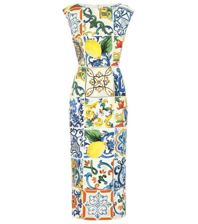 Dolce & Gabbana - Majolica stretch silk dress