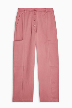 Rose Pink Tapered Trousers by Selected Femme | Topshop