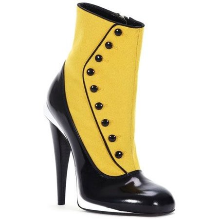 yellow and black victorian shoes - Google Search