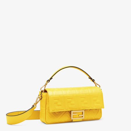 Yellow leather bag - BAGUETTE | Fendi