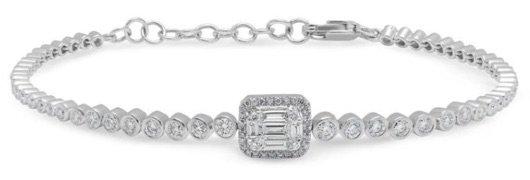 WHITE GOLD BAGUETTE DIAMOND LUXE COLETTE BRACELET
