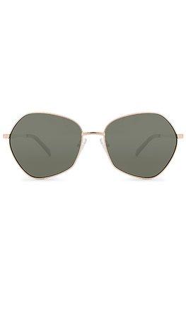 Le Specs Escadrille in Bright Gold & Khaki Mono   REVOLVE