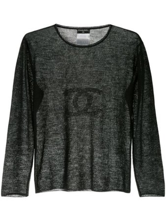 Chanel Pre-Owned Chanel CC Long Sleeve Top - Farfetch