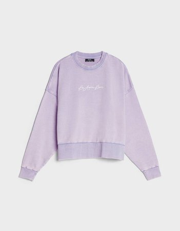 Embroidered print sweatshirt - Sweatshirts and Hoodies - Woman | Bershka